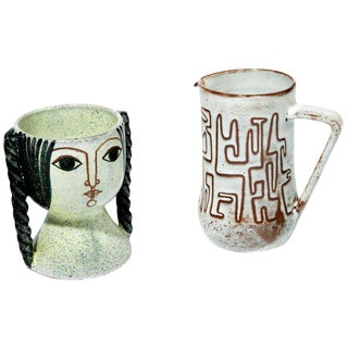 Ceramics by Miguel Durán-Loriga and Jean Rivier For Sale