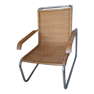 Vintage Mid Century Ludwig Moies Van Der Rohe Mr. 20 Lounge Chair For Sale