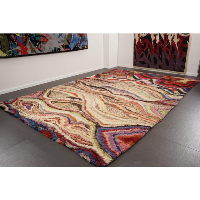 """Boccara Boccara Hand Knotted Artistic Rug - """"Amazonia"""" For Sale - Image 4 of 7"""