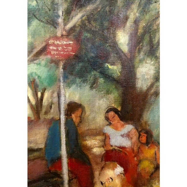 Oil Paint Frances Beatrice Lieberman-1935 Picnic at Alum Rock-Oil Painting-S.F. Museum of Art For Sale - Image 7 of 10
