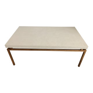 Faux Shagreen Maison Ramsey Style Coffee Table For Sale