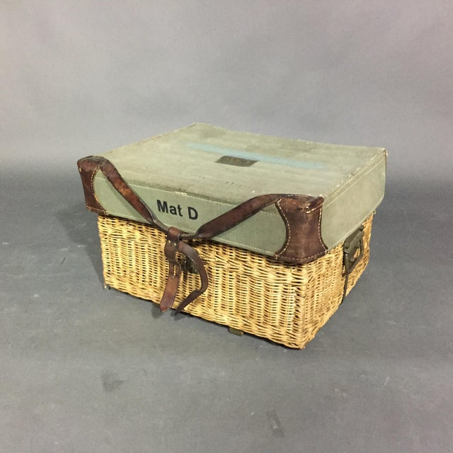 Vintage Swiss Army Military Basket, 1940s, Switzerland For Sale - Image 10 of 10