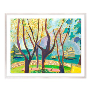 Porto Ercole 4 by Lulu DK in White Wash Framed Paper, Medium Art Print For Sale