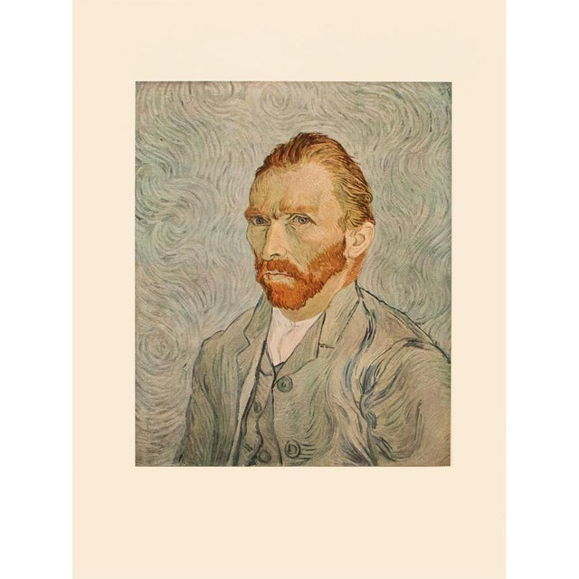 """1950s Vincent Van Gogh """"Self-Portrait"""", Post-Impressionist First Edition Lithograph For Sale - Image 9 of 10"""