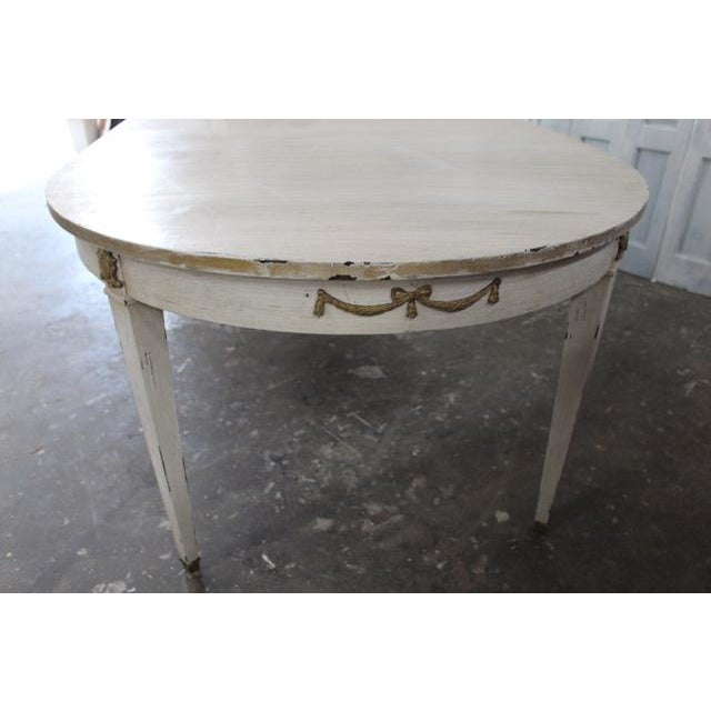 French 18th Century French Provincial Oval Dining Table For Sale - Image 3 of 8