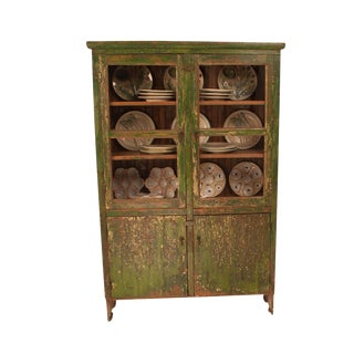 1900s Country Style Painted Cabinet For Sale