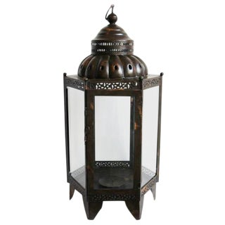 Metal & Glass Lantern Large