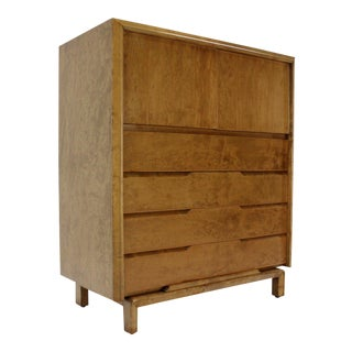 Vintage Mid Century Edmund Spence Swedish Modern Birch High Chest of Drawers For Sale