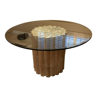 Glass Bamboo Table For Sale