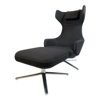 Modern Antonio Citterio for Vitra Grand Repos Lounge Chair & Ottoman For Sale