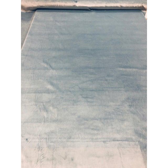 Kravet Design Versailles - E25006 Blue Designer Velvet Fabric ( 3 Yards) For Sale In Atlanta - Image 6 of 6