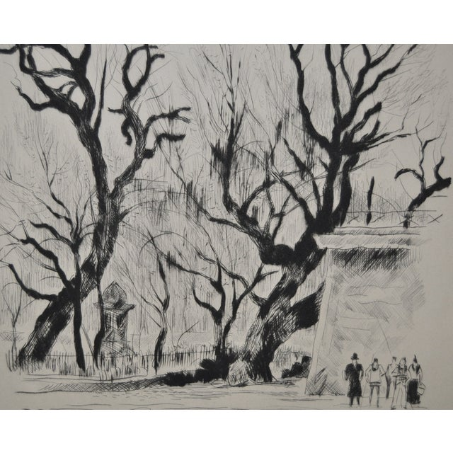 Rare Etching by Paul-Louis Guilbert C.1940 For Sale - Image 5 of 8
