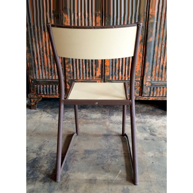 French Vintage Industrial Dining Chairs - Set of 6 - Image 5 of 10