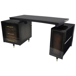 1960s Mid Century Modern Curved Partner Desk For Sale