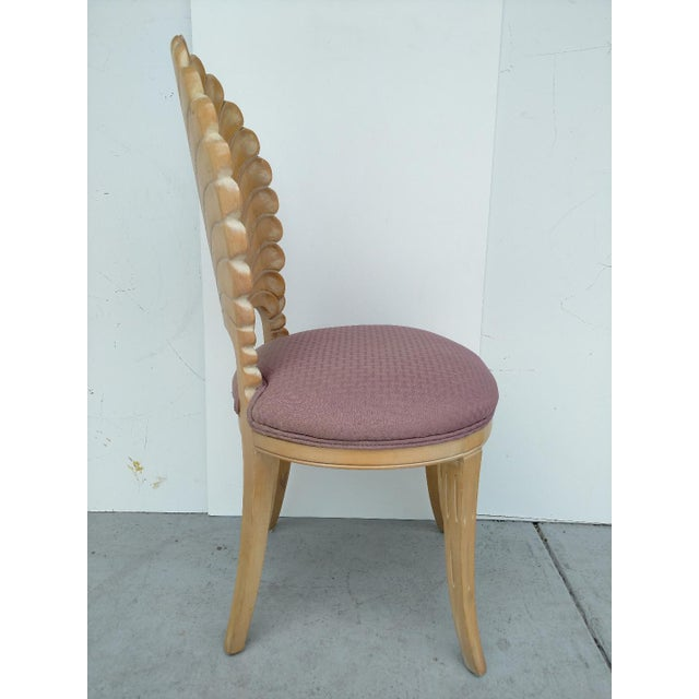 American Classical Vintage Hand-Carved Shell Backed Side Chair For Sale - Image 3 of 9