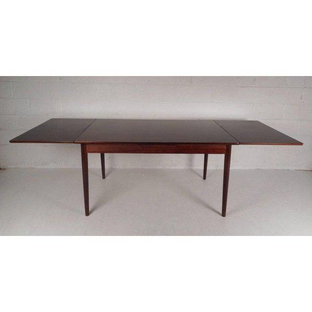 Vintage Edmund Jorgensen Modern Rosewood Draw Leaf Dining Table For Sale - Image 9 of 9