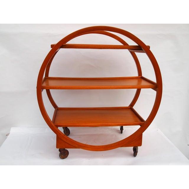 Brown Stunning English Art Deco Bar Cart For Sale - Image 8 of 8