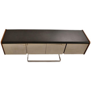 Chrome Front Modernist Credenza by Ste-Marie and Laurent For Sale