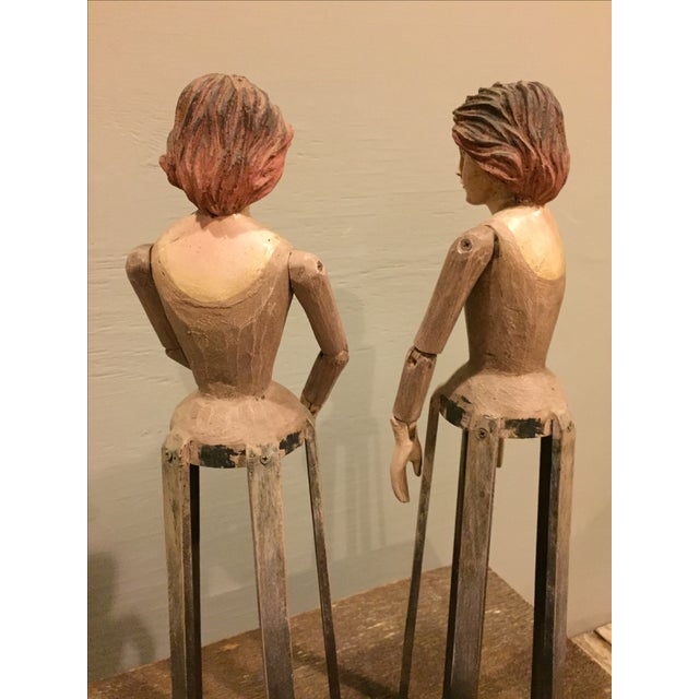 Vintage Reproduction Santos Cage Dolls - A Pair - Image 5 of 7