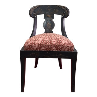 Early 20th Century Chinoiserie Side Chair For Sale