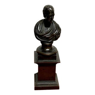 19th Century Regency Bronze Bust of Lord Byron For Sale