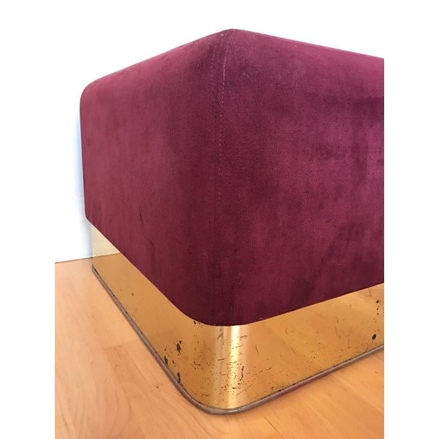 Late 20th Century Pair of Milo Baughman Cube Footstools for Thayer Coggin For Sale - Image 5 of 8