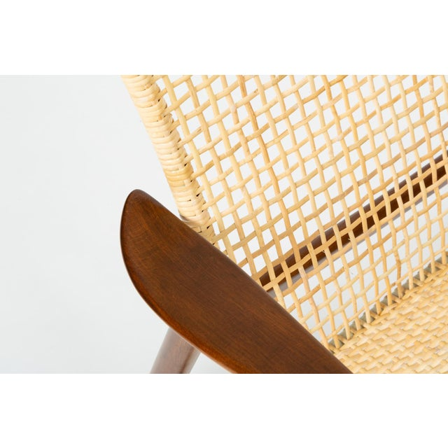 Lounge Chair With Cane Seat by Ib Kofod-Larsen for Selig For Sale - Image 11 of 13