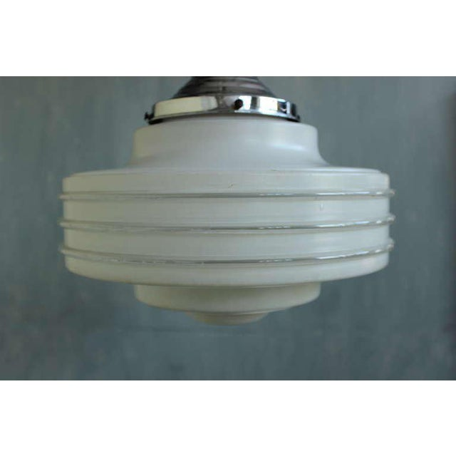 Frosted Glass Ceiling Fixture For Sale - Image 4 of 10