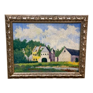 Early 20th Century French Plein Air Oil Painting by Georges Liegois, Framed For Sale