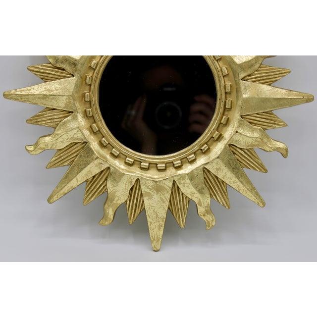 Gold Mid Century Modern Gold Sunburst Mirror For Sale - Image 8 of 13