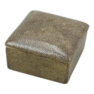 1990s Fabienne Jouvin Faux Shagreen Ceramic Box For Sale