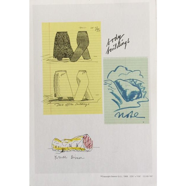 """Claes Oldenburg """"Notes"""" Complete Collection - Set of 12 - Image 4 of 10"""