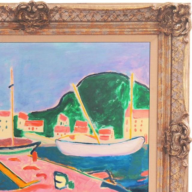 'Port De Vendres' by Ant McNaught, 2020, After André Derain, Esalen, California, Post Impressionist Oil For Sale - Image 9 of 12