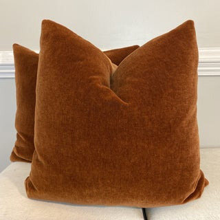 "Mohair Velvet in Spice 22"" Pillows-A Pair Preview"