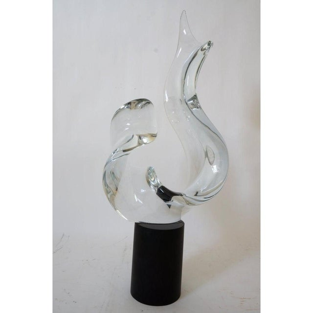 Mid 20th Century Mid-Century Modern Seguso Signed Abstract Sculpture in Murano Glass For Sale - Image 5 of 11