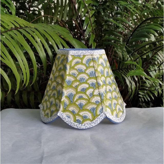 Lampshade Clip on Brunschwig Fils Fabric For Sale - Image 10 of 10