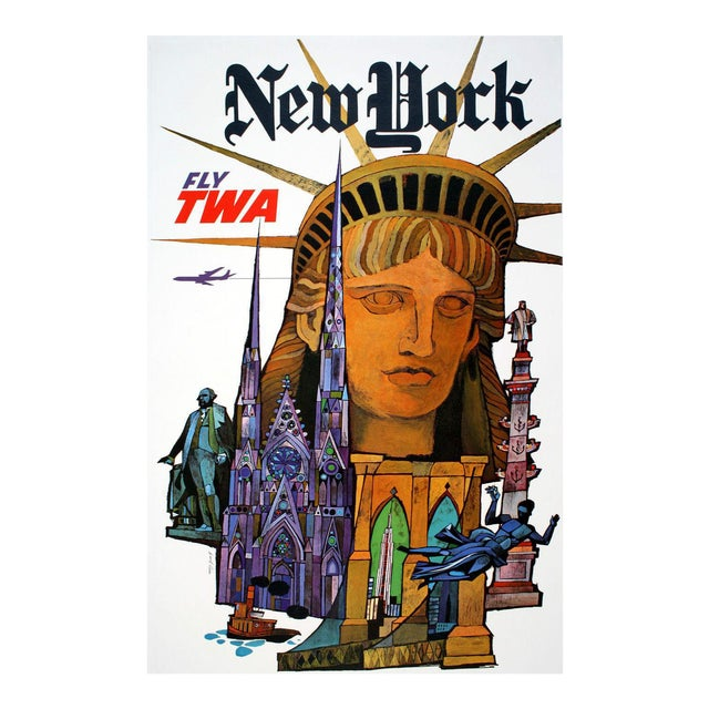 Vintage Reproduction New York Travel Poster - Image 1 of 3