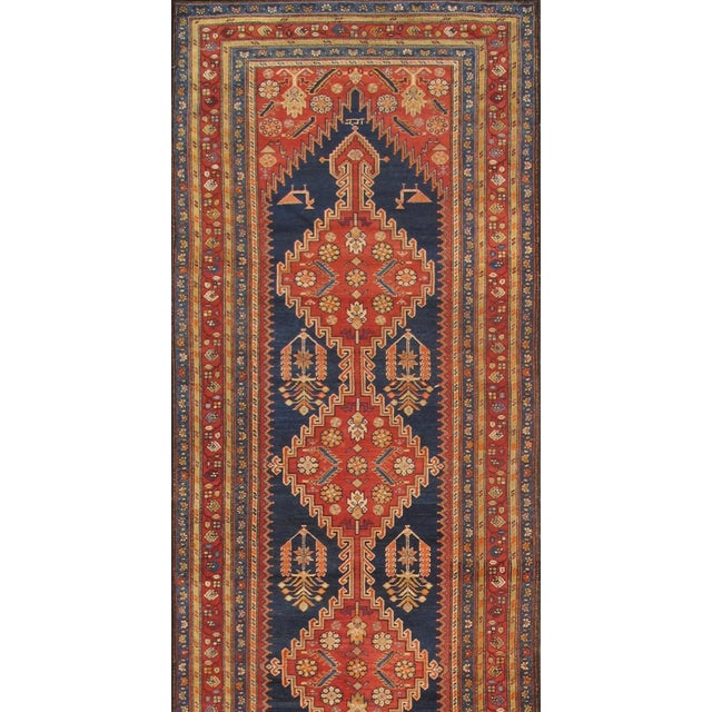 """Pasargad Antique Malayer Wool Area Rug- 4' 0"""" X 14' 0"""" - Image 2 of 2"""