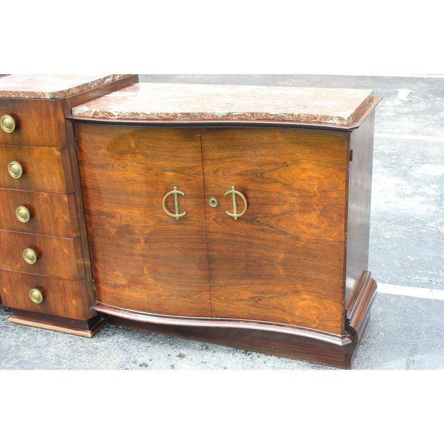 1940s Art Deco Grand Scale Macassar Ebony Sideboard For Sale - Image 4 of 12