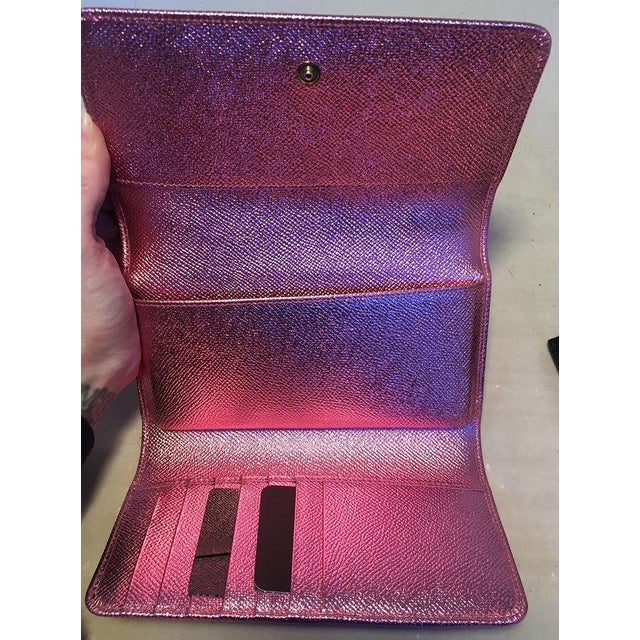 Nwot Dolce and Gabbana Pink Sicily Von Wallet Cell Phone Clutch Purse For Sale - Image 9 of 10