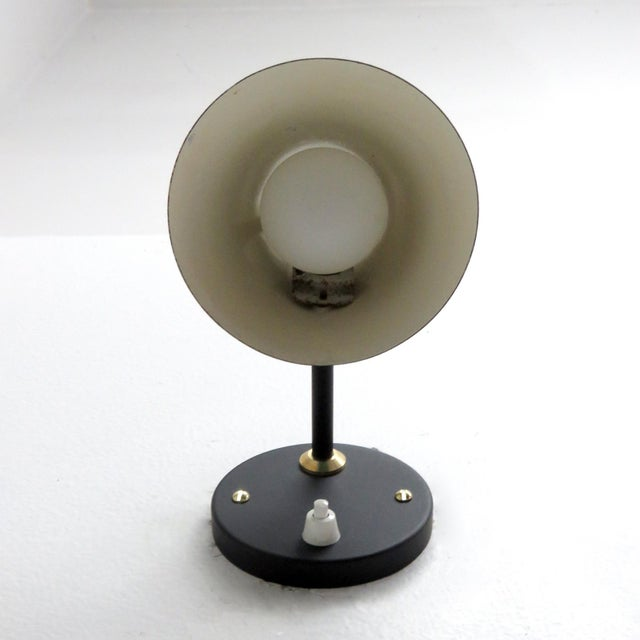 Mid-Century Modern Green Jacques Biny Wall Lamps, 1950 - a Pair For Sale - Image 3 of 9