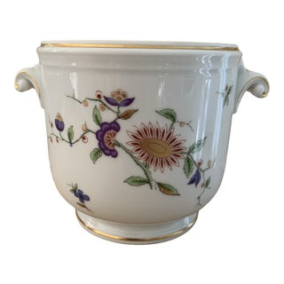 Richard Ginori Italian Floral Ceramic Cachepot For Sale