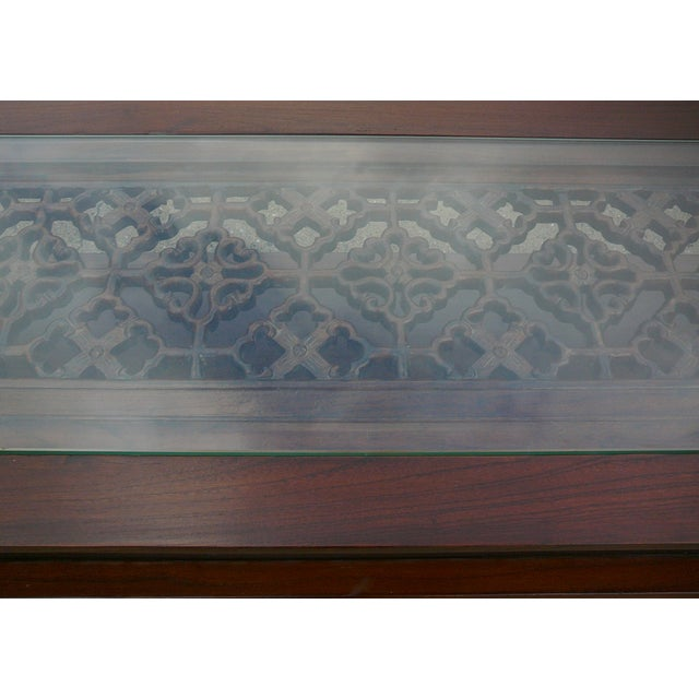 Chinese Glass Top High Credenza - Image 4 of 8