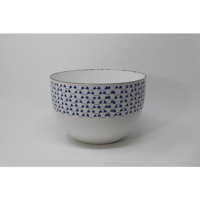 Kaj Franck for Finel Arabia Blue Clover Enamel Bowl - Image 2 of 4