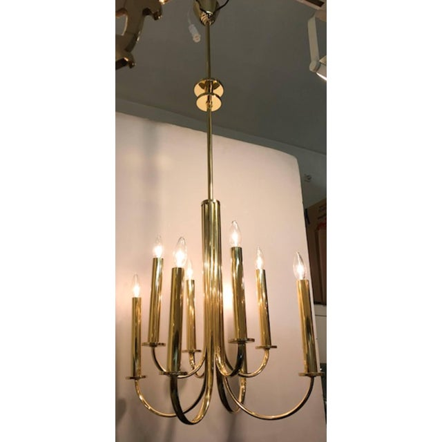 A wonderful example of Italian, 1930s Art Deco and Fascist period lighting in an elegant and clean design. A total of six...