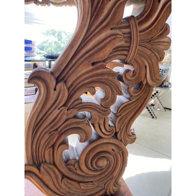 Late 19th Century Antique Burmese Carved Dining Table For Sale - Image 5 of 7