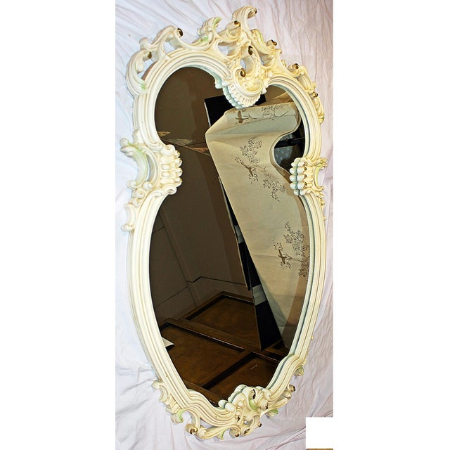 Rococo Painted Rococo Mirror For Sale - Image 3 of 6