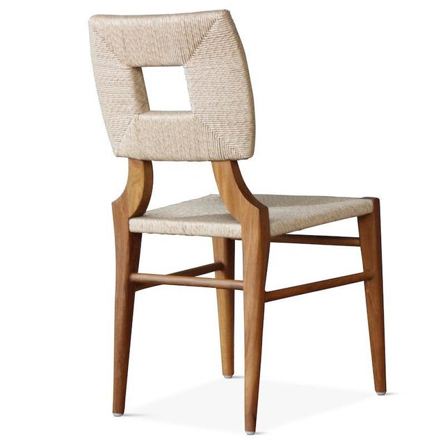 """Contemporary Outdoor """"How to Marry a Millionaire"""" Dining Chair in Charcoal or Sand For Sale - Image 3 of 6"""