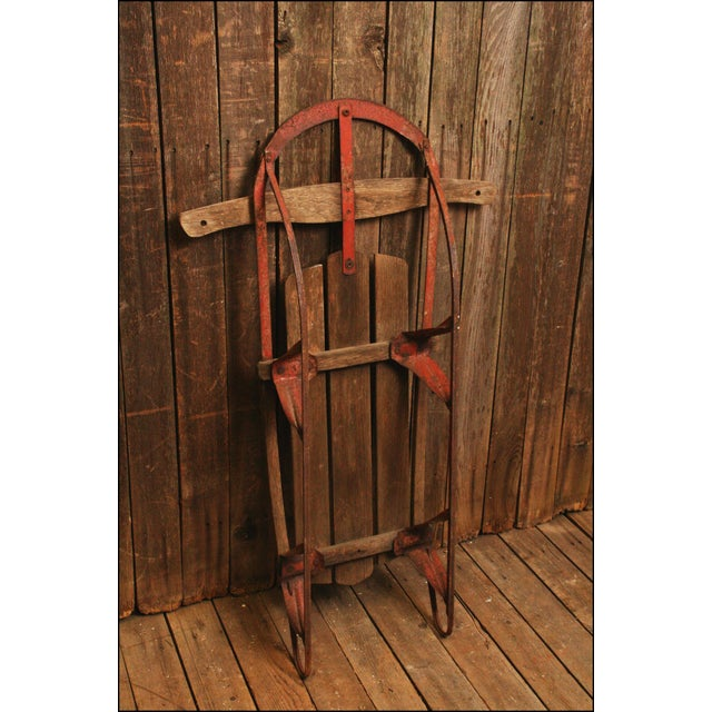 Vintage Weathered Wood & Metal Runner Sled -- Champion - Image 8 of 10