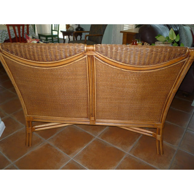 Tommy Bahama Style Bentwood Rattan Settee - Image 4 of 9